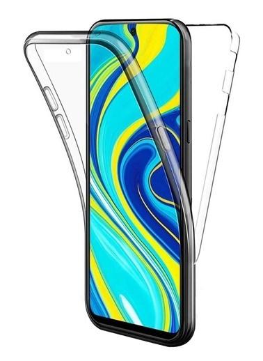 MobilCadde Mobil Cadde Şeffaf Eiroo Protection Xiaomi Poco X3 360 Derece Koruma Silikon Telefon Kılıfı Renksiz